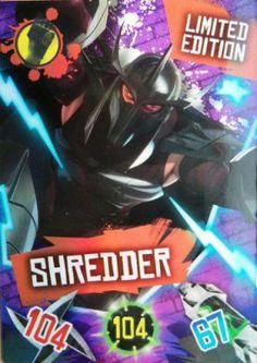 Teenage Mutant Ninja Turtles Shredder Limited Edition TMNT Trading Card from Panini