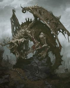 Zombie  Dragon, booli _ on ArtStation at https://www.artstation.com/artwork/a4kzz