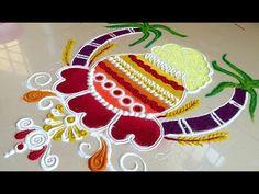 Rangoli Designs Peacock, Easy Rangoli Designs Diwali, Rangoli Designs Latest, Colorful Rangoli Designs, Diwali Diy, Rangoli Ideas, Rangoli Designs Images, Beautiful Rangoli Designs, Simple Rangoli