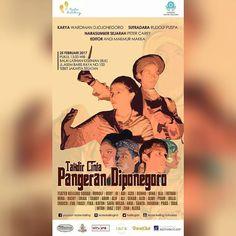 """Repost @teaterkelilingind Tag teman kalian !!!! . Teater Keliling Proudly Present  . Pementasan Takdir Cinta Pangeran Diponegoro merupakan pementasan yang akan digelar Teater Keliling tanggal 25 Februari 2017 mendatang. Naskah \""""Takdir Cinta Pangeran Diponegoro\"""" adalah suatu karya ide dari Bapak Wardiman Djojonegoro . . Pementasan ini akan menceritakan kisah cinta Pangeran Diponegoro dengan istrinya Raden Ayu Maduretno dan perjuangan keduanya. Dari masa-masa penuh gelora asmara pertentangan…"""