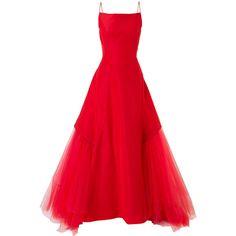 Zac Posen flared dress ($14,740) ❤ liked on Polyvore featuring dresses, gowns, red, zac posen dresses, red flared dress, zac posen, flare dresses and flared dresses