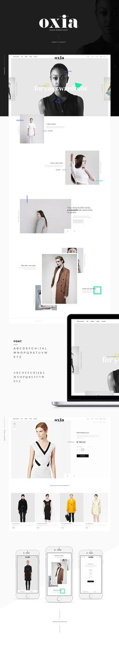 oxia fashion web project on Behance