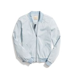 Stitch Fix Spring Outerwear: Chambray Bomber Jacket