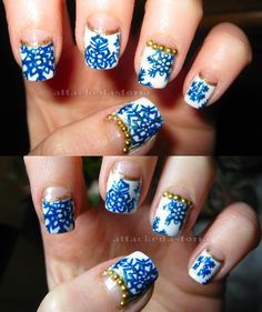 half moon winter nails....we gotta try this one!  Join the Nail Art Society - Discover the latest trends in Nail Art for only $19.95 a Month!