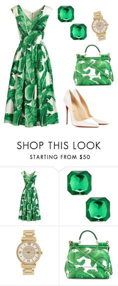 """Untitled #65"" by jacquiejay ❤ liked on Polyvore featuring Dolce&Gabbana, Kenneth Jay Lane, Michael Kors and Christian Louboutin"