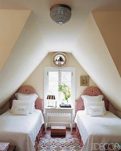 Attic Bedroom. This would be great if I had two girls someday :)