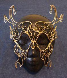 Bronze & Crystal Phoenix Mask. $69.00, via Etsy.