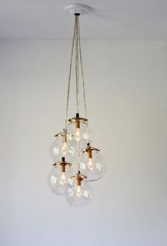 how to clean a hanging chandelier
