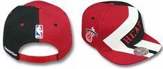 Miami Heat NBA Mitchell And Ness Snapback Hats Red/Black