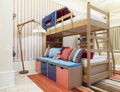 decoracao quarto crianca cama beliche madeira casa pronta