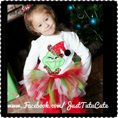 Grinch Christmas Tutu outfit :)))   www.Facebook.com/JustTutuCute