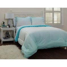 Your Zone Ombre Cool Bed in a Bag Set, Blue
