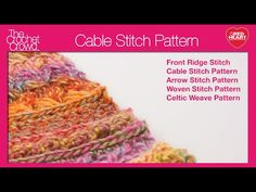 Crochet Cable Stitch for the Holiday Throw