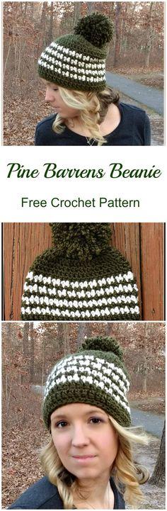 Free Pattern - Pine Barrens Beanie from Croyden Crochet