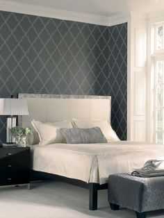 Candice Olson Lattice Wallpaper by York Wallcoverings at Gilt