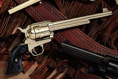 ❦ Colt Single Action Arm Known as The Peacemaker, this .45 Colt was produced from 1873 to 1941. Read more: New Cowboy Guns Of The Old West - Popular Mechanics