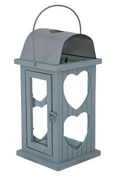 Small Wooden Heart Lantern