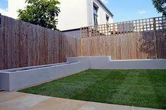 Wooden garden fencing ideas feather edge panels with trellis cheap fence in Cheap Garden Fencing, Diy Fence, Fence Ideas, Garden Ideas, Backyard Ideas, Garden Fences, Outdoor Ideas, Fence Design, Garden Design