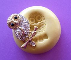 Mini OWL On A Branch Silicone MOLD PMC Soap by MoldsSweetTreasure