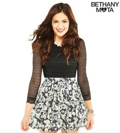 Daisy skater skirt from the Bethany Mota line at Aeropostale- $26.00  Size s