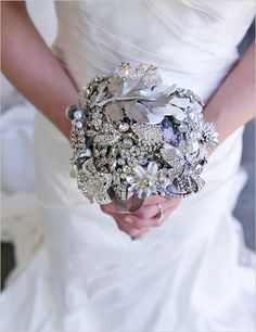 i love these jeweled bouquets. gorgeous and last forever.