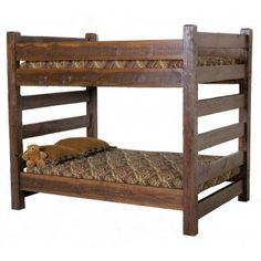 Timberwood Barnwood Queen Over Queen Bunk Bed