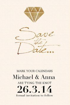 Riding Along  Save The Date CardWedding Announcement Card  Save