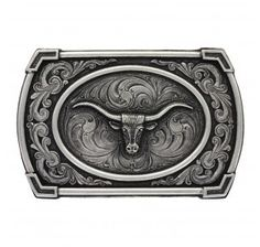 Montana Silversmith Classic Antiqued Ace in the Hole Attitude Buckle with Longhorn - HeadWest Outfitters