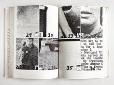 """""""Dieter Roth's 'Daily Mirror' series are the foundation for Hans-Rudolf Lutz's later newspaper experiments. Roth bound the found material of the newspaper clippings × 2 cm) into a book. Editorial Layout, Editorial Design, Graphic Design Typography, Graphic Design Illustration, Print Layout, Layout Design, Dieter Roth, Buch Design, Publication Design"""