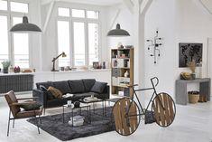 Table basse indus en métal noir Edison | Maisons du Monde