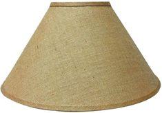 "Large Burlap Coolie Lamp Shades 16-24""W"