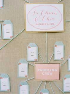 a mind-map style seating chart | Photography: Amelia Johnson Photography - www.ameliajohnson.net, Florals by http://www.jmflora.com/index2.php, Design and Planning by http://karsonbutlerevents.com/