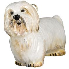Joy To The World Collectibles Dog Ornament (1.090 CZK) ❤ liked on Polyvore featuring home, home decor, holiday decorations, coton de tulear, dog home decor, hand blown glass ornaments, glass ornaments, dog ornaments and handcrafted glass ornaments