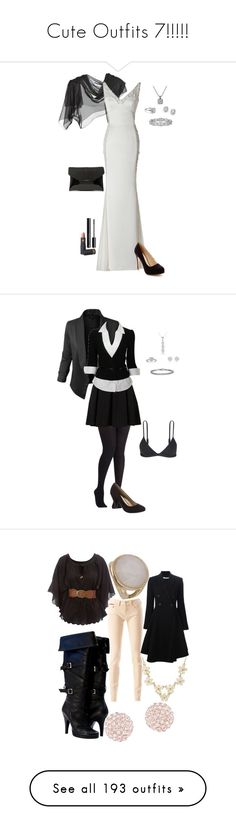 """""""Cute Outfits 7!!!!!"""" by kelseystan97 ❤ liked on Polyvore featuring shoes, ballet flat shoes, skimmer shoes, ballet shoes, ballerina shoes, ballerina pumps, Moschino, Saks Fifth Avenue, Avance and H&M"""