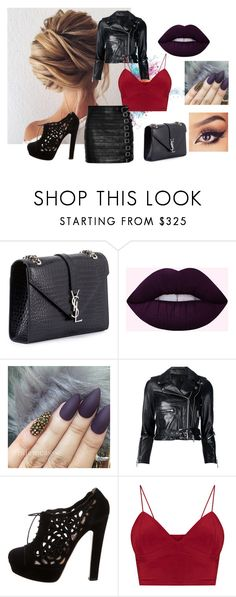 """""""Zoe Hubris"""" by gikaulitz on Polyvore featuring moda, Givenchy, Yves Saint Laurent, R13, Valentino e Gucci"""