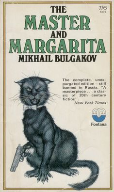 The Master and Margarita, Mikhail Bulgakov Giant talking cats packing pistols! The devil come to Moscow! One of the greatest fabulist-infused novels of all time! Great Novels, Great Books, Reading Lists, Book Lists, Reading Books, Books To Read, My Books, The Master And Margarita, Books Everyone Should Read