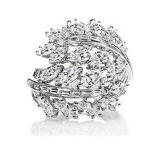 510bbae799f Fur Coat. See more. Harry Winston Feather Marquise and Baguette Diamonds  Ring Expensive Diamond Rings
