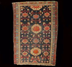 A Nice Antique Allover Rug with Large Flowers