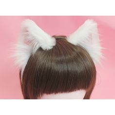 White Realistic Cat Ears (pink velvet,white fluffs) Just placed my order for these from kitten's playpen. They're so beautiful!Just placed my order for these from kitten's playpen. They're so beautiful! Kitten Play Gear, Kitten Play Collar, Cat Ears Headband, White Headband, Wolf Ears And Tail, Bridesmaid Presents, Neko Ears, Cosplay Hair, Kittens Playing
