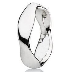 13b39aab545 Pandora Liquid Silver Large Ring Pandora Bracelets
