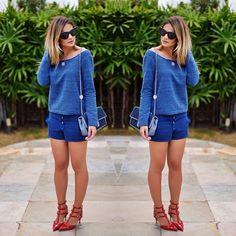 Blue mood! Conjuntinho de moletom comfy e fofo pra quarta pré feriado e mega corrida!  | look: @aguadecocobr | #ootd #lookoftheday #blue