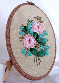 Ribbon embroidery - ellipse 004