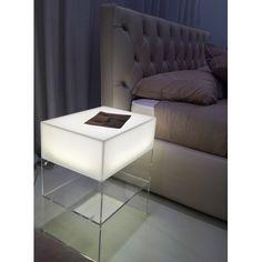 Acrylic lighted nightstand