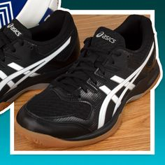 Womens Volleyball Shoes ASICS Gel Rocket 9 Black and White