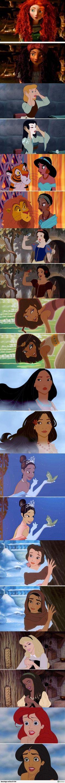 Cambiando de raza a las princesas Disney