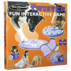 The Company of Animals Dog Twister Interactive Toy by Nina Ottosson requires your dog to dislodge the removable bones, then slide the top covers to access the treats hidden inside.    With a little practice, he will soon learn to dislodge the bone and slide the cover to access the hidden rewards.    By gradually reducing the number of treats, you can encourage him to work harder for rewards.