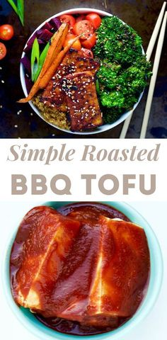 Simple Roasted Barbeque Tofu - Food Heaven Made Easy Vegan Dinner Recipes, Vegetarian Recipes Dinner, Vegan Dinners, Real Food Recipes, Free Recipes, Bbq Tofu, Food Heaven Made Easy, Veggies