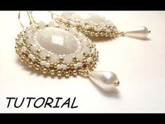 TUTORIAL orecchini embroidery | Bead embroidery TUTORIAL - YouTube