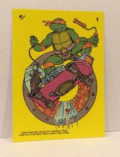 1989 Teenage Mutant NINJA TURTLES Sticker Trading Card - TripleGCollectibles, $2.00
