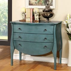 Furniture of America Elissa French Country 3-Drawer Chest   Overstock.com Shopping - The Best Deals on Coffee, Sofa & End Tables